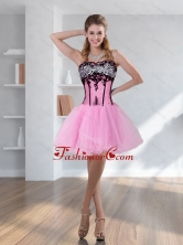 Fashionable Zebra Printed Multi Color Prom Dress with Pick Ups and Embroidery QDZY028TZCFOR