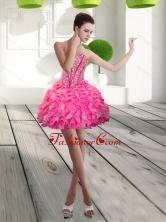 Fashonable Mini Length Sweetheart Beading and Ruffles Prom Dress for 2015 QDDTA66003FOR