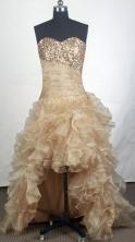 Gorgeous A-line Sweetheart Knee-length Champange Prom Dress LHJ428