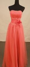 Lovely empire strapless floor-length net beading prom dresses FA-X-114