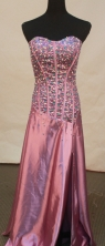 Luxurious column sweetheart-neck floor-length beading purple prom dresses FA-X-131