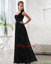 Modest Empire One Shoulder Prom Dresses with Belt DBEE475FOR