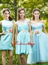 Most Popular Light Blue Prom Dress with Appliques for Spring BMT0168FOR