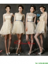 New Arrivals A Line Short Prom Dress in Champagne BMT0119FOR