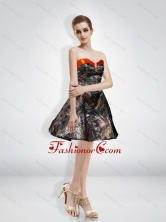 Fashionable A Line Sweetheart Beading Camo Prom Dresses with Knee Length CMPD016FOR