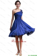 New Style One Shoulder Short Prom Dresses in Royal Blue DBEE611FOR