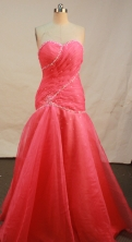 Perfect A-line sweetheart-neck floor-length organza beading prom dresses FA-X-131