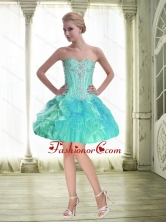 Perfect Ball Gown Sweetheart Beaded Prom Dress with Mini Length SJQDDT55003FOR
