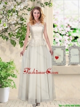 Perfect Champagne Prom Dresses with Appliques and Lace BMT060BFOR
