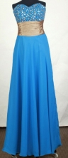Perfect Empire Sweetheart Floor-length Sky Blue Prom Dress LHJ42837
