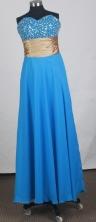 Perfect Empire Sweetheart Floor-length Sky Blue Prom Dress LHJ42837