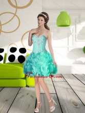 Perfect Sweetheart Prom Dress with Beading and Rolling Flowers SJQDDT58003FOR
