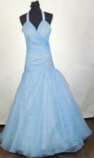 Popular A-line Halter Top Floor-length Prom Dress LHJ42831