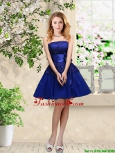 Popular Hand Made Flowers Royal Blue Prom Dresses with Appliques BMT034AFOR