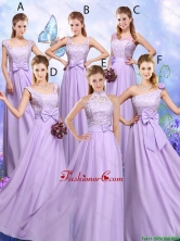 Popular Laced and Bowknot Prom Dresses with Empire BMT046FOR
