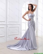 Popular Mermaid Sweetheart Brush Train Sequins Prom Dresses DBEE439FOR