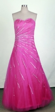 Pretty A-line Sweetheart Floor-length Hot Pink Prom Dress LHJ42851