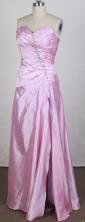 Pretty Column Sweetheart Floor-length Pink Prom Dress LHJ42888