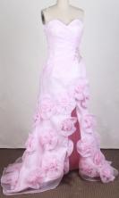 Pretty Empire Sweetheart Brush  Pink Prom Dress LHJ42889