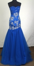 Sexy Mermaid Sweetheart Floor-length Appliques Prom Dress LHJ42852