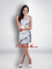 Short One Shoulder Ruched Fashionable Camo Prom Dresses in Multi Color CMPD038FOR