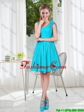Short Straps Custom Made Prom Dress in Aqua Blue  BMT001C-7FOR
