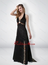 Fashionable Empire Halter Top Beaded Camo Prom Dresses with Brush Train CMPD040FOR