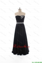 Simple Empire Strapless Beaded Prom Dresses in Black DBEES192FOR