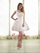 Simple Princess Prom Dresses with Beading in White for 2015 SJQDDT46003FOR