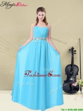 Summer Fashionable Ruching Prom Dresses in Aqua Blue BMT008-7FFOR