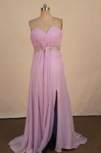 Sweet Empire Sweetheart-neck Floor-length Chiffon Purple Beading Prom Dresses Style FA-C-166