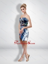 Fashionable Column Strapless Short Camo Wedding Dresses CMPD070FOR