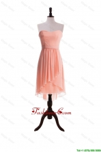 Watermelon Red Sweet Short Prom Dresses with Sashes DBEES303FOR