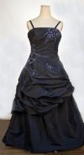 Simple A-line Strap Floor-length Black Beading Flower Girl Dresses Style FA-C-244