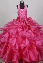 2012 Beautiful Ball Gown Halter Top Floor-length Flower Girl Dress  Style RFGDC0106