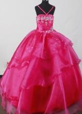 2012 Beautiful Ball Gown Strap Floor-length Flower Girl Dress  Style RFGDC03