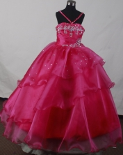 2012 Beautiful Ball Gown Strap Floor-length Flower Girl Dress Style RFGDC03