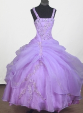 2012 Beautiful Ball Gown Strap Floor-length Little Gril Pagant Dress  Style RFGDC058