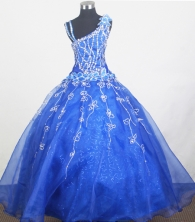2012 Beautiful Ball Gown Strap Floor-length Little Gril Pagant Dress Style RFGDC078