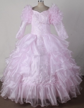 2012 Beautiful Ball Gown V-neck Floor-length Little Gril Pagant Dress Style RFGDC047