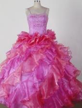 2012 Brand new Ball Gown Spaghetti Straps Floor-length Flower Girl Dress Style RFGDC024