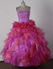 2012 Brand new Ball Gown Spaghetti Straps Floor-length Flower Girl Dress Style RFGDC024