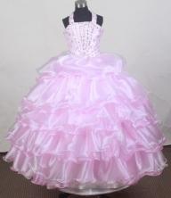 2012 Brand new Ball Gown Strap Floor-length Flower Girl Dress Style RFGDC0116