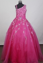 2012 Brand new Ball Gown Strap Floor-length Little Gril Pagant Dress Style RFGDC061