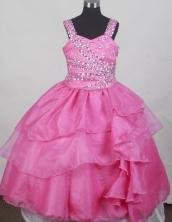 2012 Classical Ball Gown Strap Floor-length Flower Girl Dress Style RFGDC0115