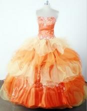 2012 Classical Ball Gown Strapless Floor-length Flower Girl Dress Style RFGDC044
