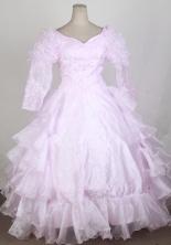 2012 Cute Ball Gown V-neck Floor-length Flower Girl Dress  Style RFGDC0110