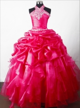 2012 Discout Ball Gown Halter Top Floor-length Little Gril Pagant Dress Style RFGDC052