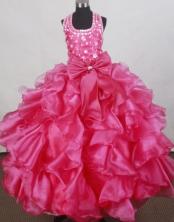 2012 Elegant Ball Gown Halter Top Floor-length Flower Girl Dress  Style RFGDC0104
