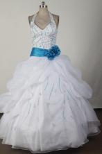 2012 Elegant Ball Gown Halter Top Floor-length Flower Girl Dress Style RFGDC02